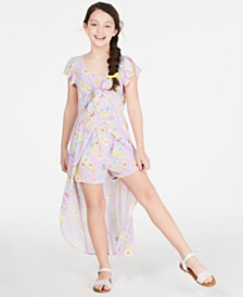 Epic Threads Big Girls Floral-Print Walkthrough Romper, Created for Macy's