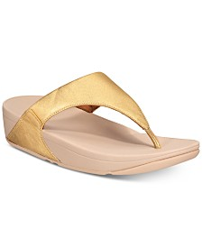 FitFlop Lulu Leather Toepost Flip-Flop Sandals