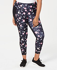 Plus Size Ditsy Floral Printed Leggings, Created for Macy's