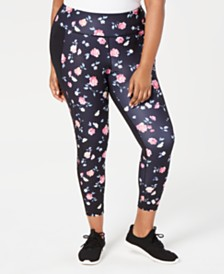 Ideology Plus Size Ditsy Floral Printed Leggings, Created for Macy's