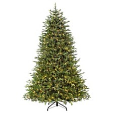 Puleo International 7.5 ft Pre-Lit Northern Fir Artificial Christmas Tree with 800 UL-Listed Clear Lights