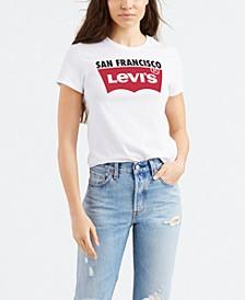 Women's Batwing Logo Cities T-Shirt