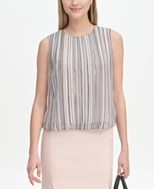 Calvin Klein Striped Bubble Top