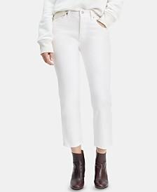 Levi's® 501® Crop Straight-Leg Jeans