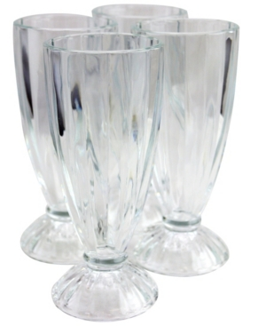 4 Piece 12 Ounce Milk Shake Glass Set