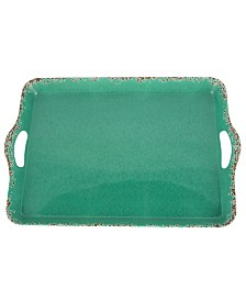 Studio California Mauna Rectangular Serving Tray in Crackle Look Decal