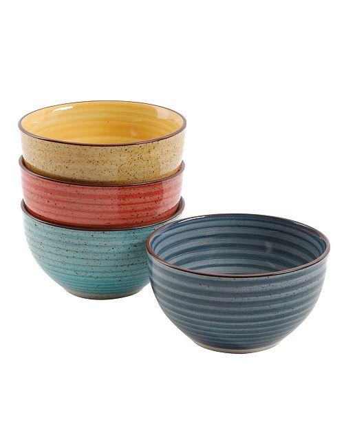 "Color Speckle 4 Piece 5.25"" Cereal Bowl Set"