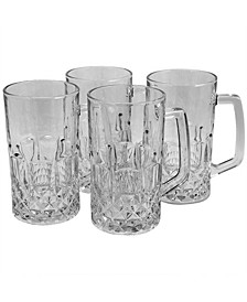 Jewelite 4 Piece 21 Ounce Beer Mug Set