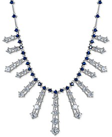 """Cubic Zirconia Ray 17"""" Statement Necklace in Sterling Silver, Created for Macy's"""