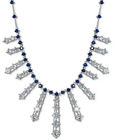 "Giani Bernini Cubic Zirconia Ray 17"" Statement Necklace in Sterling Silver, Created for Macy's"