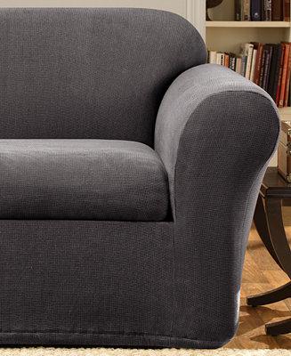 Sure fit stretch metro 2 piece sofa slipcover slipcovers for Universal sectional sofa slipcovers