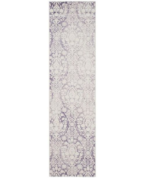 """Safavieh Passion Lavender and Ivory 2'2"""" x 8' Runner Area Rug"""