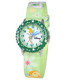 Watch, Kid's Tinker Bell Time Teacher Printed Nylon Strap 31mm W000069