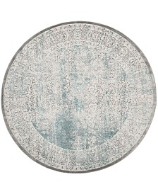"Safavieh Passion Turquoise and Ivory 6'7"" x 6'7"" Round Area Rug"