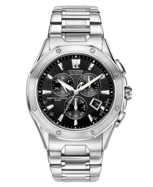 Citizen Men's Eco-Drive Signature Octavia Perpetual Calendar Chronograph Stainless Steel Bracelet Watch 42mm BL5460-51E