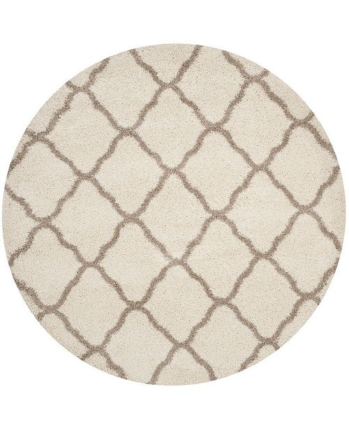 Safavieh Hudson Ivory and Beige 7' x 7' Round Area Rug
