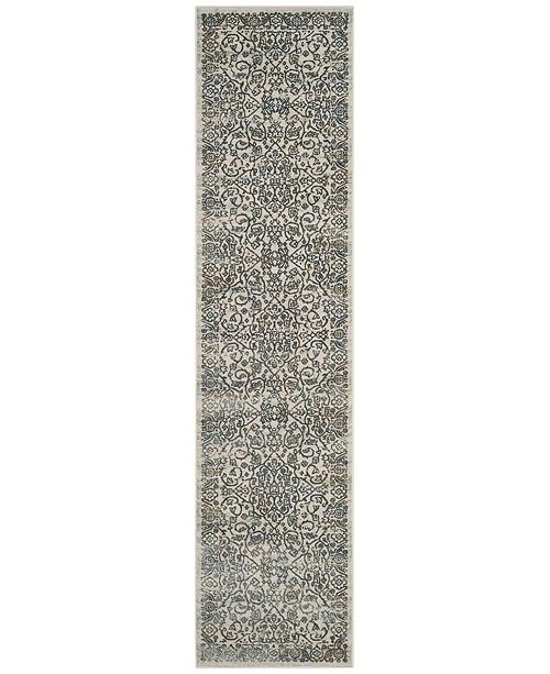 Safavieh Princeton Cream and Slate 2' x 8' Runner Area Rug