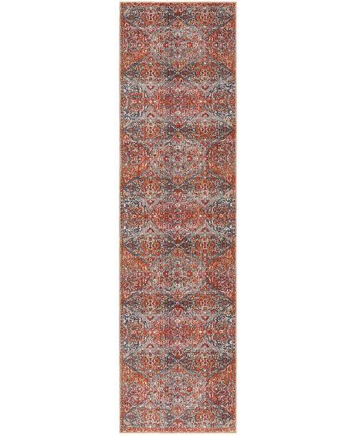 "Safavieh Vintage Persian Aqua and Orange 2'2"" x 8' Runner Area Rug"