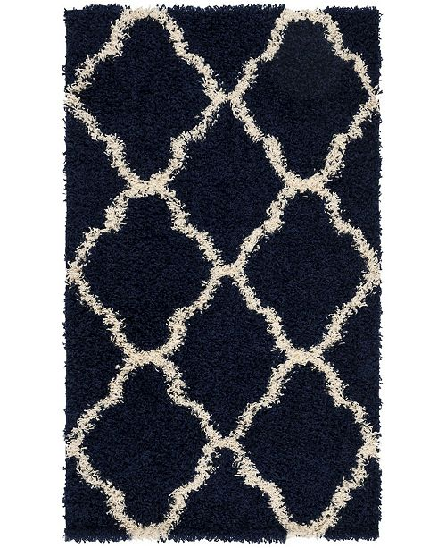 Safavieh Dallas Navy and Ivory 3' x 5' Area Rug