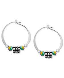 Jody Coyote Sterling Silver Earrings, Daisy Hoop Earrings