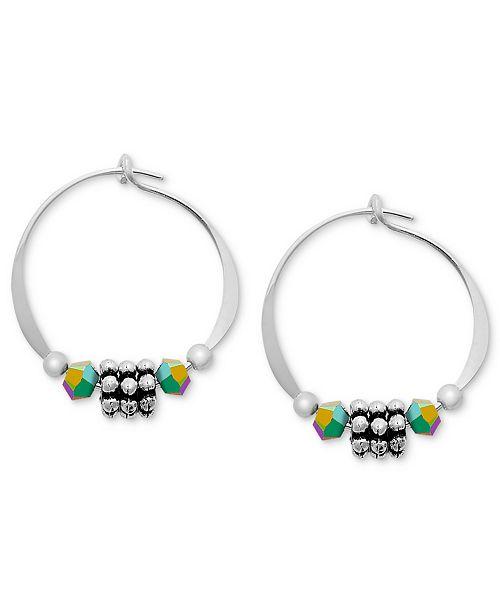 66a41a21b Jody Coyote Sterling Silver Earrings, Daisy Hoop Earrings - Earrings ...