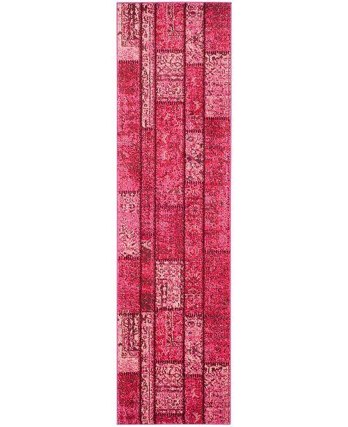 "Safavieh Monaco Pink and Multi 2'2"" x 8' Runner Area Rug"