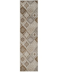"""Vintage Cream and Camel 2'2"""" x 8' Runner Area Rug"""