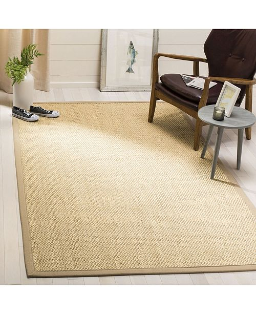 Safavieh Natural Fiber Ivory and Beige 5' x 8' Sisal Weave Area Rug