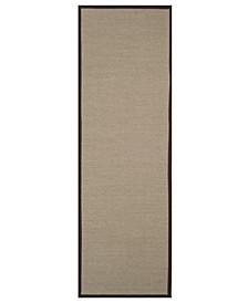 "Natural Fiber Sage and Brown 2'6"" x 8' Sisal Weave Runner Rug"