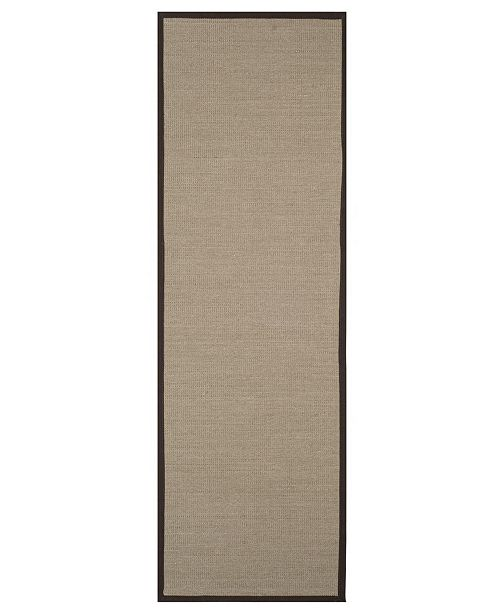"Safavieh Natural Fiber Sage and Brown 2'6"" x 8' Sisal Weave Runner Area Rug"