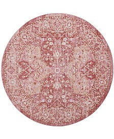 Safavieh Windsor Rose and Red 6' x 6' Round Area Rug