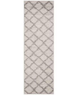 """Adirondack Ivory and Silver 2'6"""" x 8' Runner Area Rug"""
