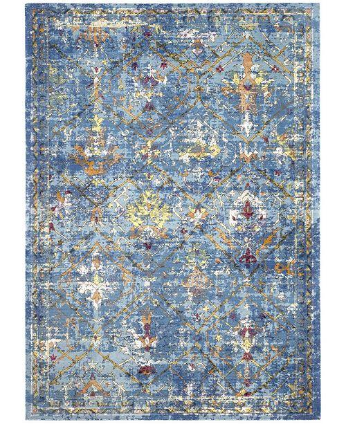 "Safavieh Aria Blue and Multi 5'1"" x 7'6"" Area Rug"