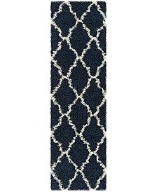 """Dallas Navy and Ivory 2'3"""" x 8' Runner Area Rug"""