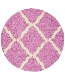 Safavieh Dallas Pink and Ivory 6' x 6' Round Area Rug