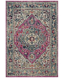 "Madison Fuchsia and Aqua 5'3"" x 7'6"" Area Rug"