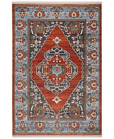 """Vintage Persian Rust and Blue 5' x 7'6"""" Area Rug"""