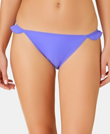 California Waves Juniors' Solid Ruffle Side Hipster Bottoms, Created for Macy's