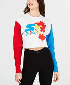 Colorblocked Graphic Sweatshirt