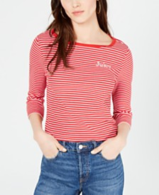 Juicy Couture Striped Boat-Neck Top