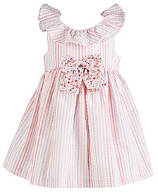 Bonnie Baby Baby Girls Striped Seersucker Dress
