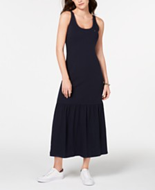 Tommy Hilfiger Flounce-Skirt Maxi Dress, Created for Macy's