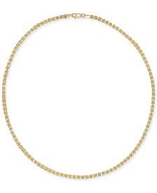 "Giani Bernini Byzantine Link 18"" Chain Necklace in 18k Gold-Plated Sterling Silver, Created for Macy's"