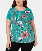 31469961a08de Plus Size Tops - Womens Plus Size Blouses   Shirts - Macy s