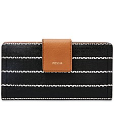 Logan Printed Tab Clutch Wallet
