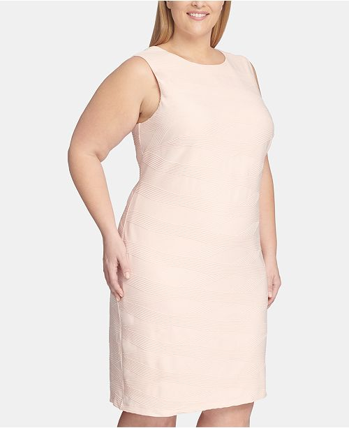 b7b044af Tommy Hilfiger Plus Size Crisscross-Knit Sheath Dress & Reviews ...