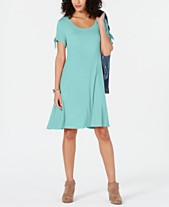 7631d4e2c Style & Co Tie-Sleeve Dress, Created for Macy's