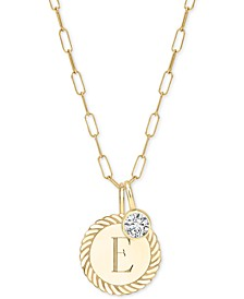 """Alara Initial Charm Long Pendant Necklace in 14k Gold-Plate Over Sterling Silver, 36"""" + 2"""" extender"""