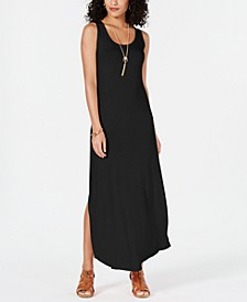 Petite Sleeveless Scoop-Neck Maxi Dress, Created for Macy's