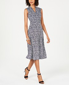 Jessica Howard Petite Ditsy Floral A-Line Midi Dress